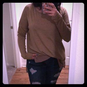 NWOT Muted camel lightweight sweater tunic